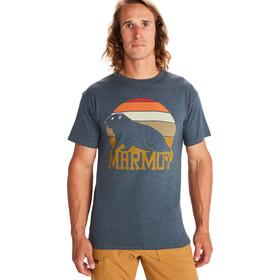Marmot Dawning Camiseta Manga Corta Hombre, azul